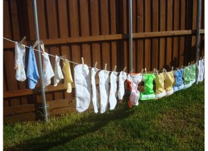 diapers-drying