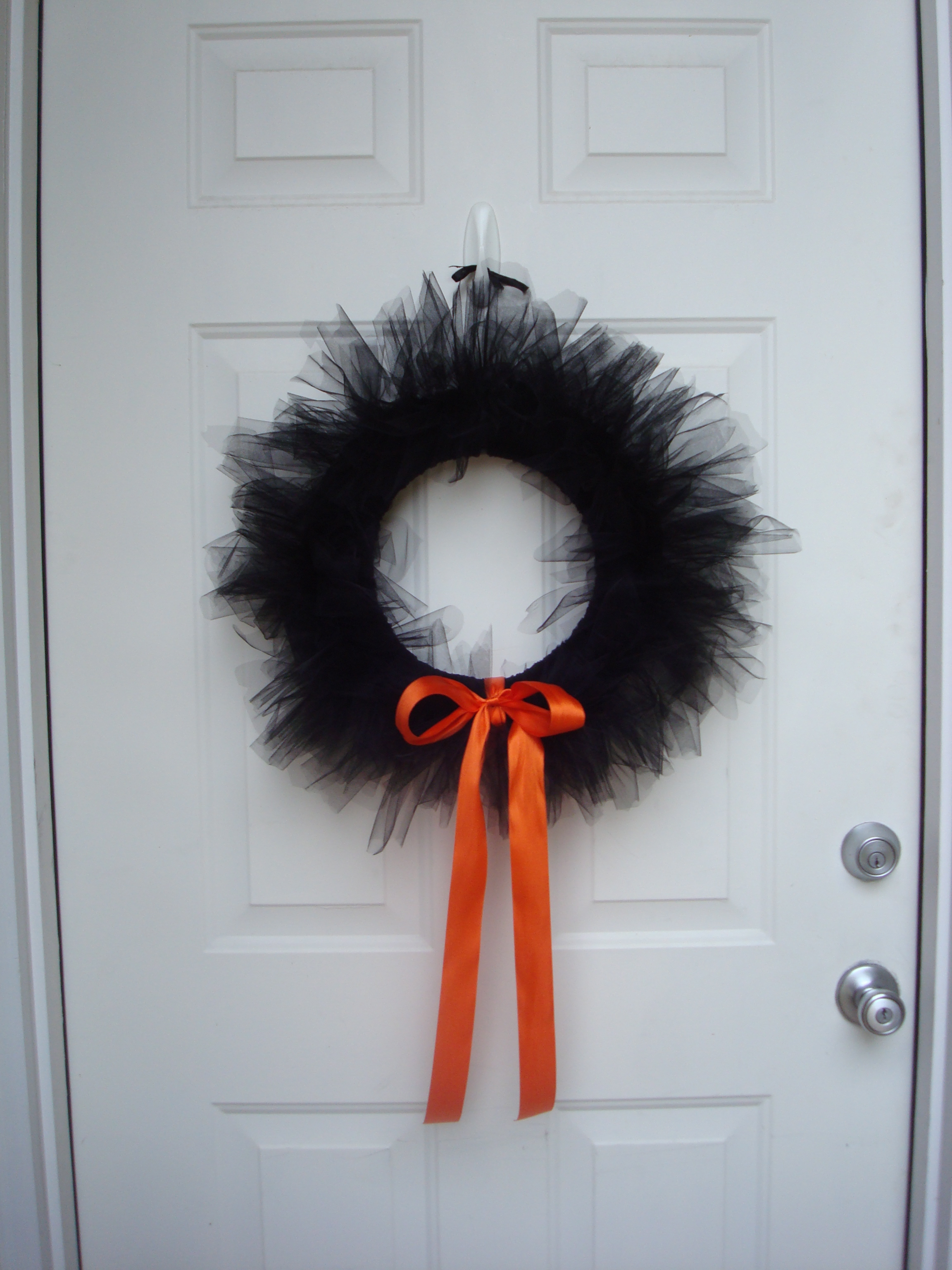 Tutu cute Halloween wreath