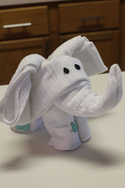 How To Make An Elephant Diaper Cake