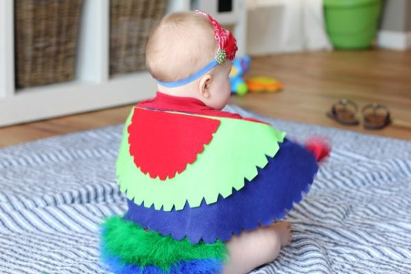 No-Sew Infant Parrot Costume Tutorial