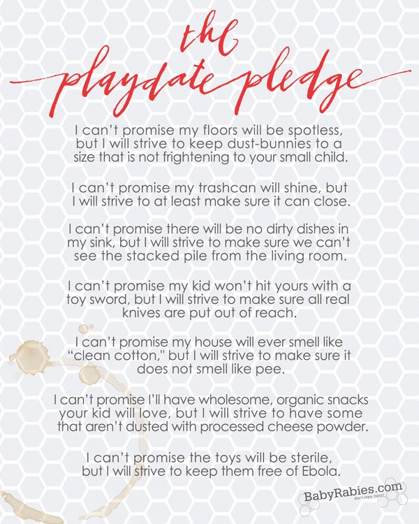 The Playdate Pledge