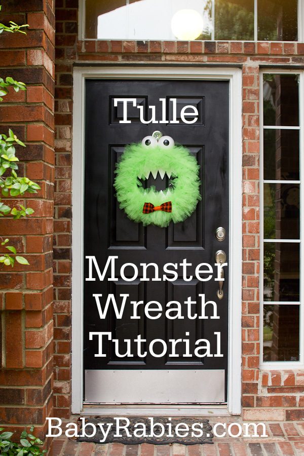 boo it s a monster of a wreath tutorial