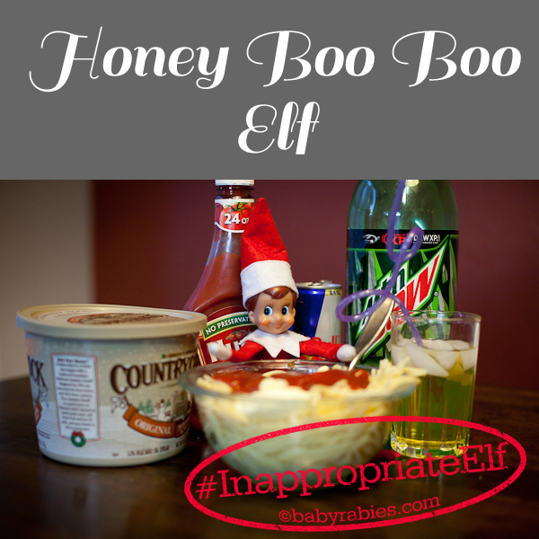 Funny Elf on the Shelf idea