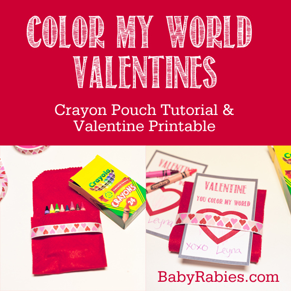Baby Rabies | You Color My World Valentines- Tutorial & Free Printable