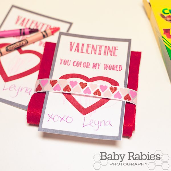You Color My World Valentines- Tutorial & Free Printable