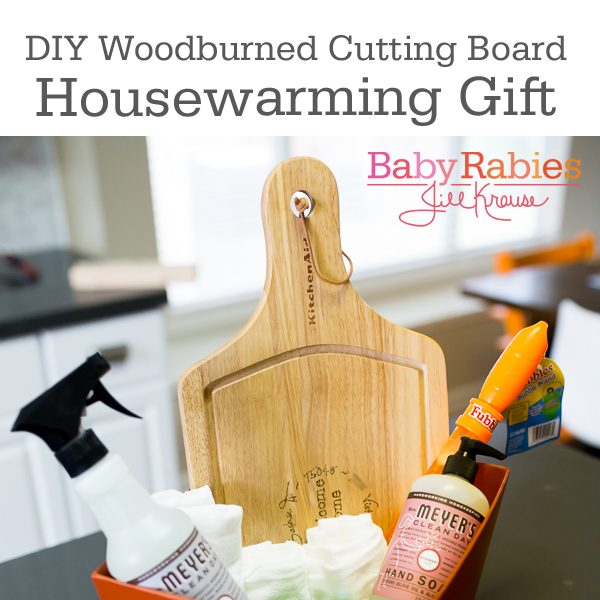 How To Personalize A Cutting Board (Great Housewarming Gift)
