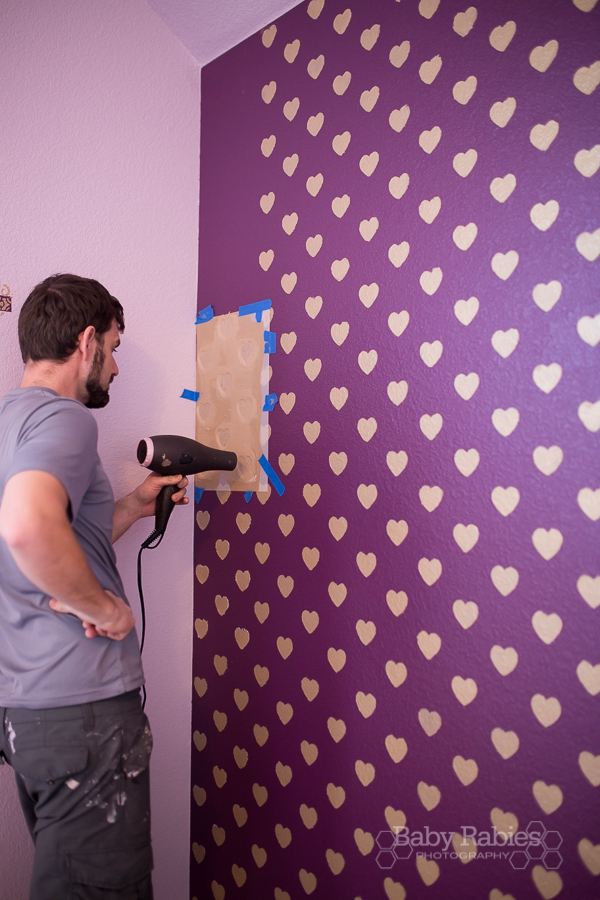 The Heart Wall Tutorial How To Get Crisp Stencils On Textured Walls