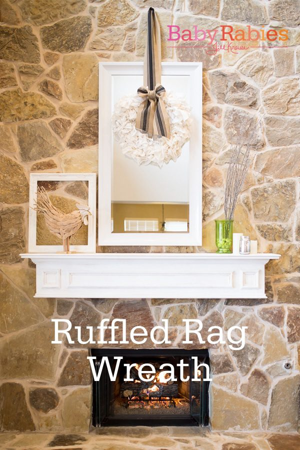 I made this from actual rags. And it's beautiful. {Ruffled Rag Wreath Tutorial}
