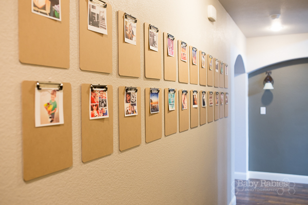 Big Impact, Little Cost: Display life's little moments on a clipboard wall