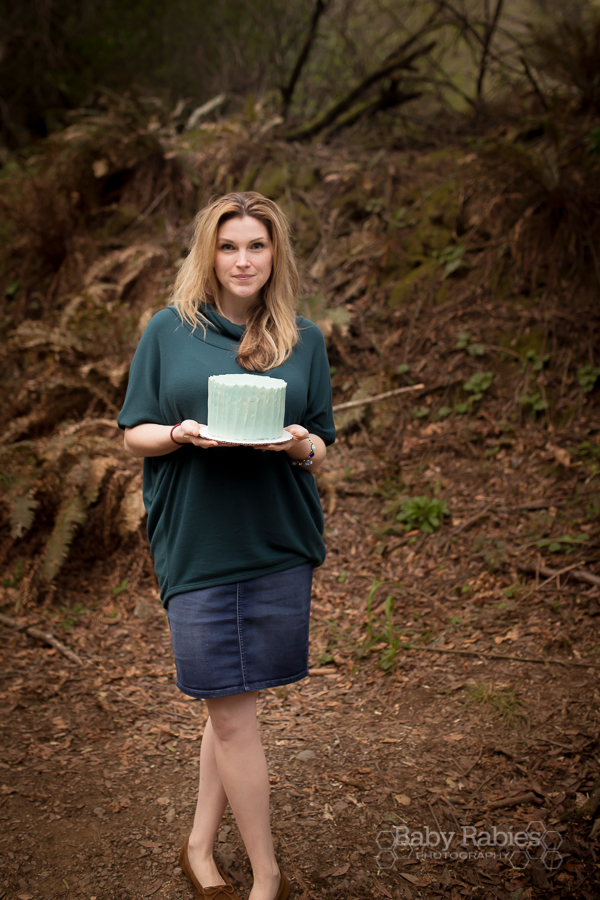 Muir woods with cake from SusieCakes in San Francisco because why not | babyrabies.com