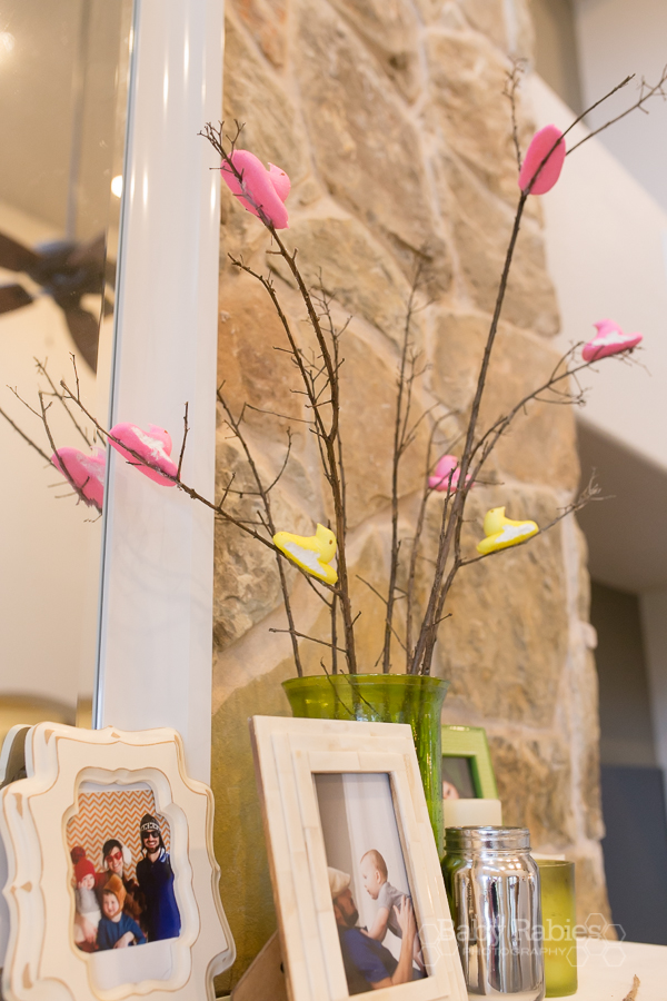 "A Peeps ""tree"" for your Easter mantle 
