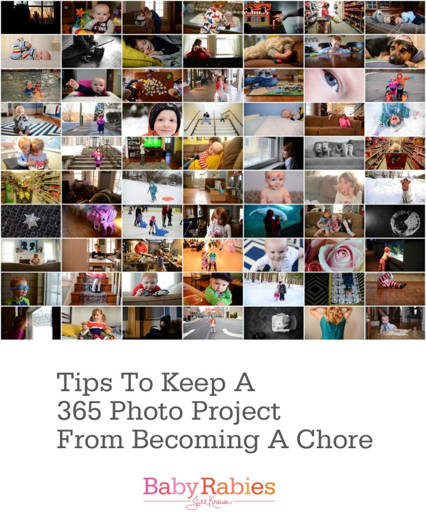 Tips to keep your 365 photo project from becoming a chore | BabyRabies.com