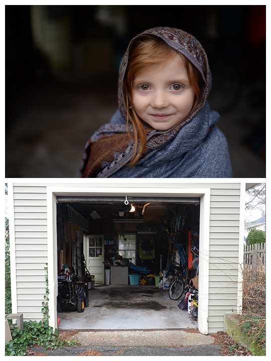 Take Gorgeous Portraits In An Ugly Garage | BabyRabies.com