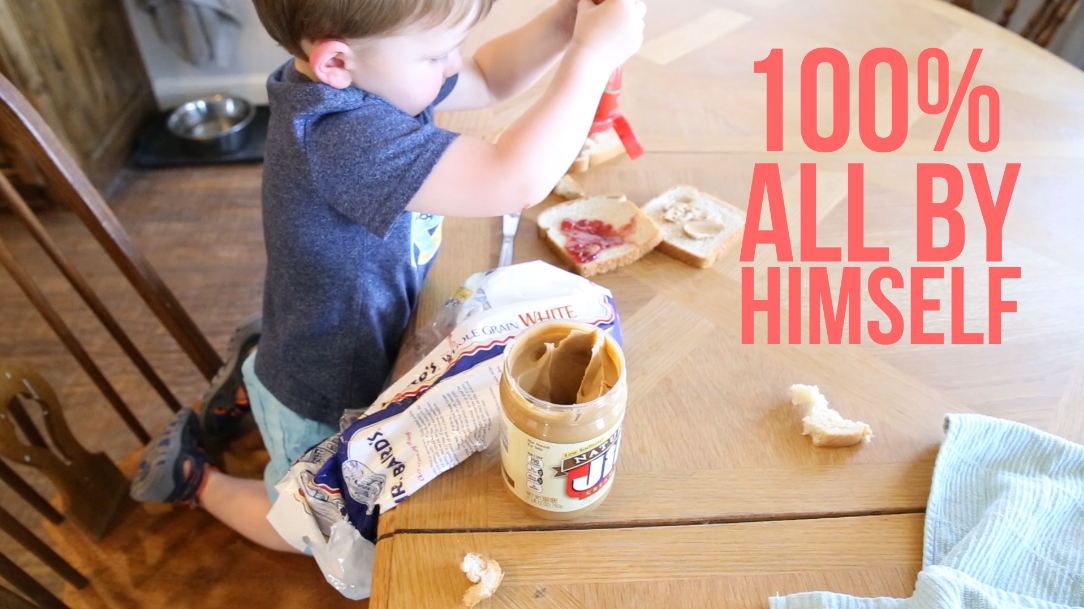 Your 3 Year Old Can Make Their Own PB&J, Too, With This Magic Tip!