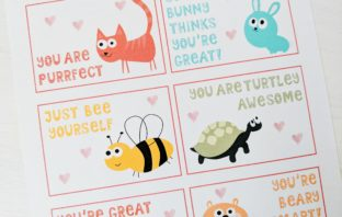 baby rabies free printable valentines punny animals