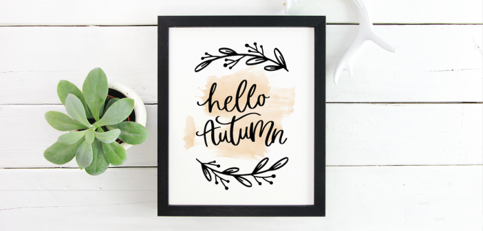 A Free Nursery Art Print For Anyone Who Is Obsessed With Fall