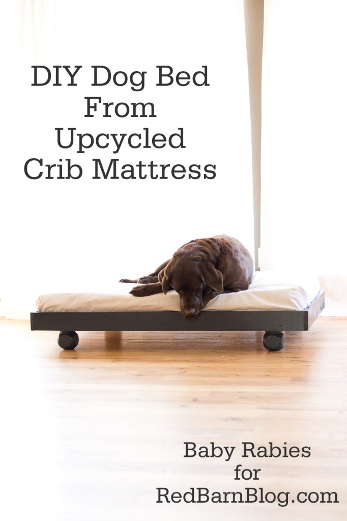 Turns A Crib Mattress Into Beautiful Dog Bed Perfect For Dogs Or Smaller To Share It S Easy Customize Work With Any Decor