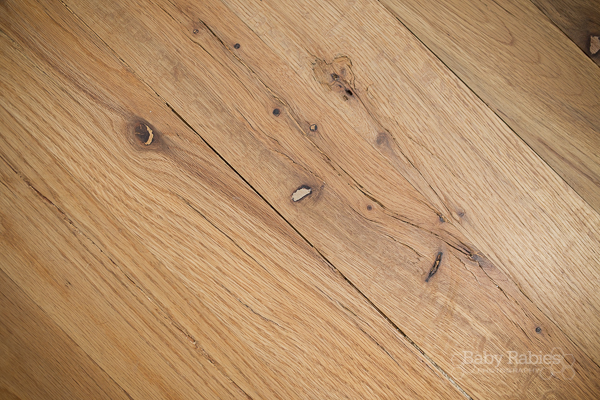 DIY Low Budget Hardwood Floors- BabyRabies.com