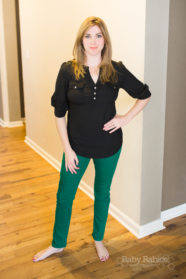 Stitch Fix 41Hawthorn- Filbert 3/4 Sleeve Popover Blouse- $58