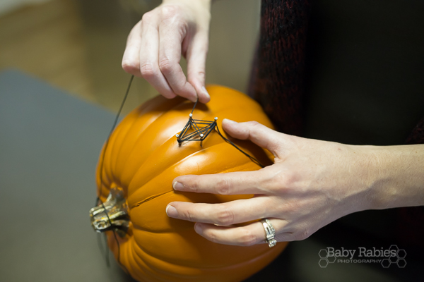 Easy String Art Pumpkin- BabyRabies.com