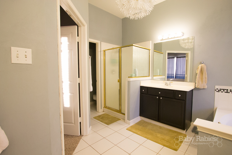 Update A Brass Bathroom On A Budget - BabyRabies.com