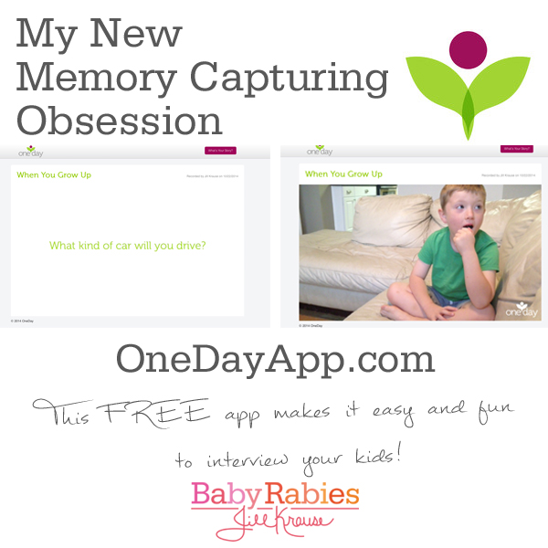 One Day app makes it easy and fun to interview your kids or yourself, and it's FREE! - BabyRabies.com