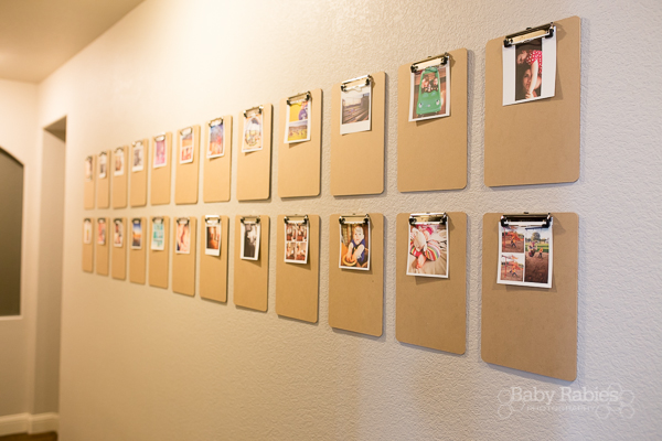 Low cost, big impact way to display life's little moments- DIY clipboard gallery wall! | BabyRabies.com