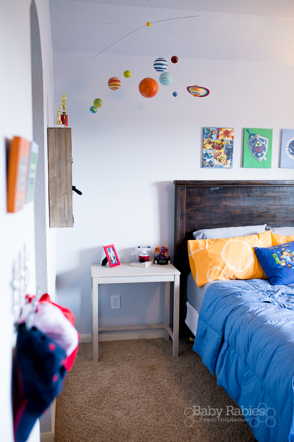 A Boy's Room With Room To Grow- Created with lots of repurposing and DIYs |BabyRabies.com