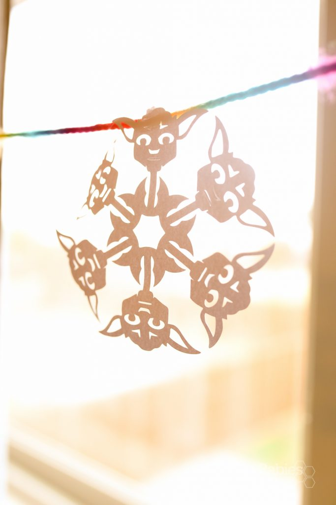 Star Wars Snowflakes with Silhouette Cameo | BabyRabies.com