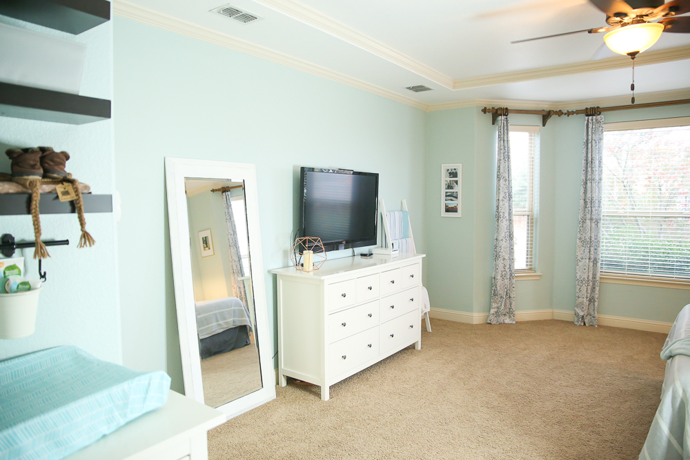Master Bedroom with Nursery Nook | BabyRabies.com