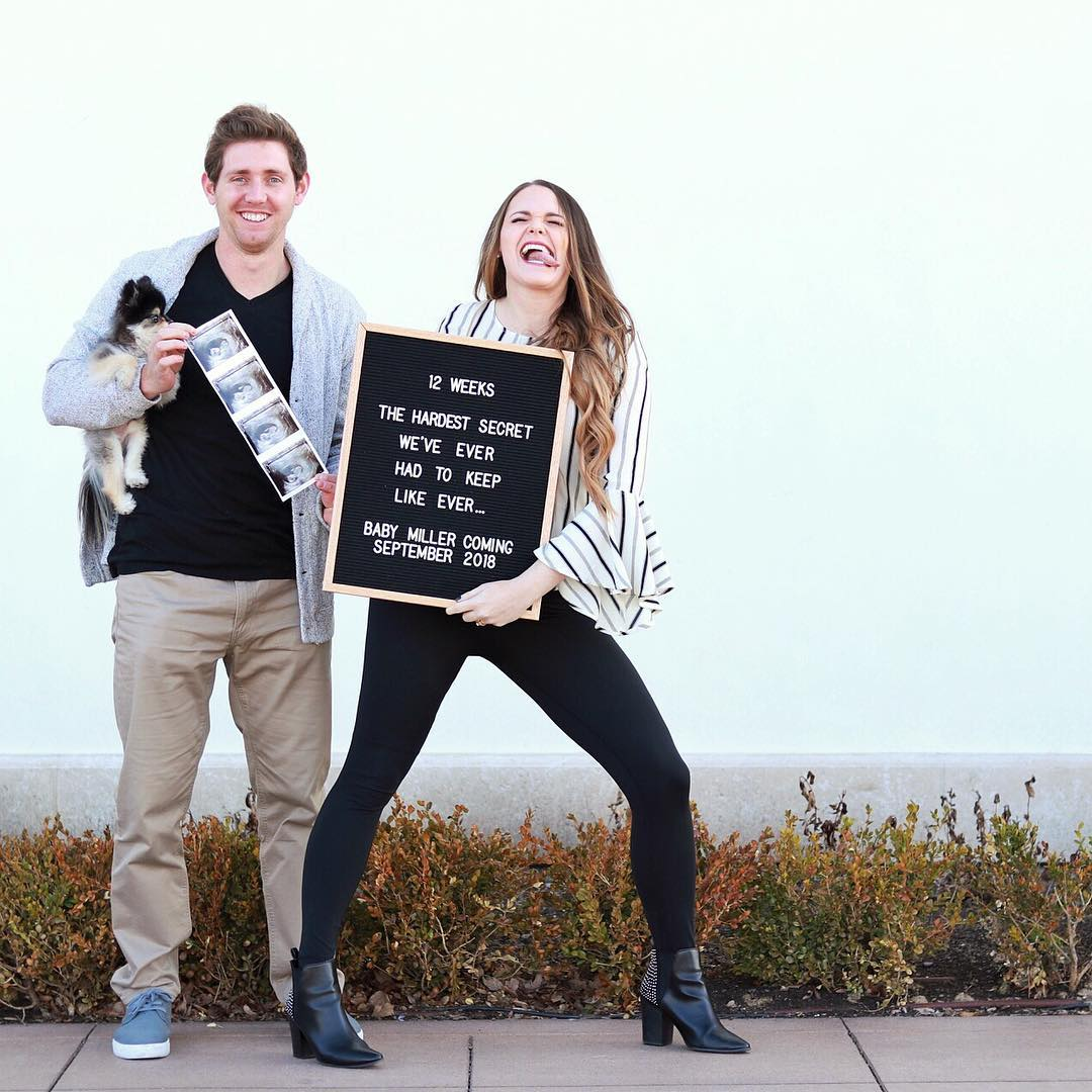 Letterboard Pregnancy Announcements