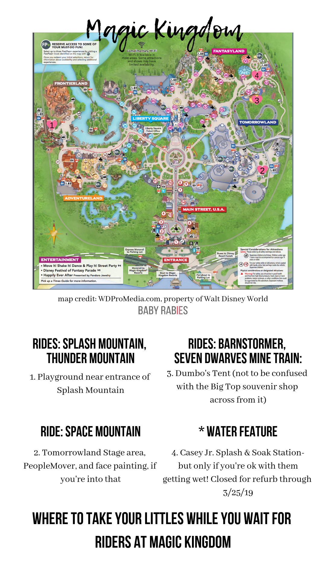 map of Walt Disney World Magic Kingdom