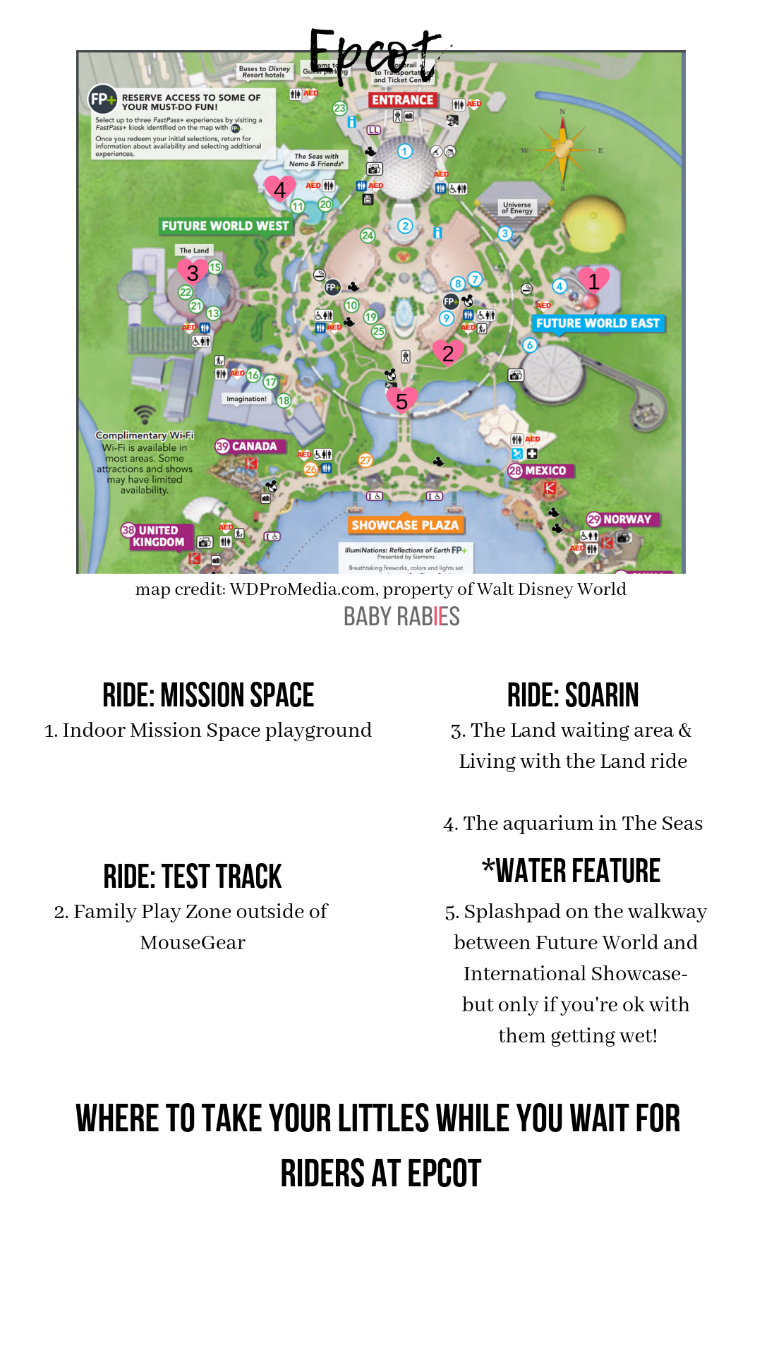 map of Walt Disney World Epcot